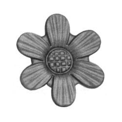 R 126/3 kovácsoltvas levelek, virágok
