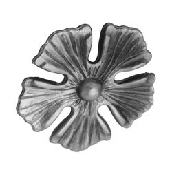 R 138/14 kovácsoltvas levelek, virágok
