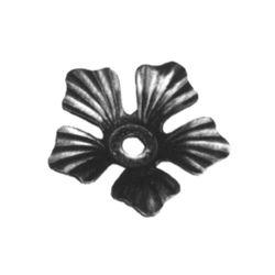 R 138/3 kovácsoltvas levelek, virágok