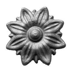 R 1393/8 kovácsoltvas levelek, virágok