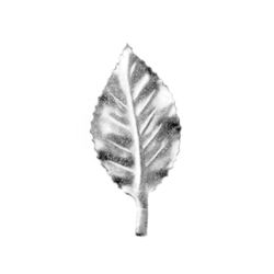R 140/1 kovácsoltvas levelek, virágok