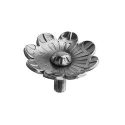 R 676/2 kovácsoltvas levelek, virágok