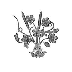 R 696/3 kovácsoltvas rozetták