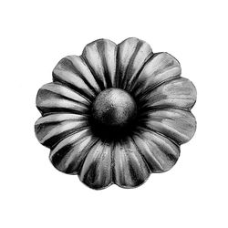 R 697/4 kovácsoltvas levelek, virágok