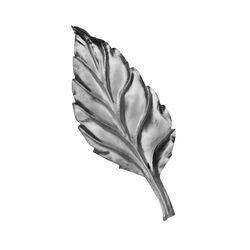 R 702/3 kovácsoltvas levelek, virágok