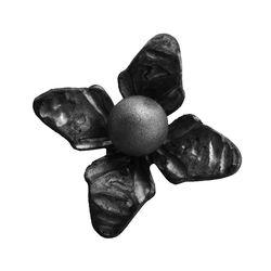 RF 9328 kovácsoltvas levelek, virágok