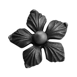 RF 9329 kovácsoltvas levelek, virágok