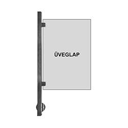 RFE0285 rozsdamentes korlátoszlopok