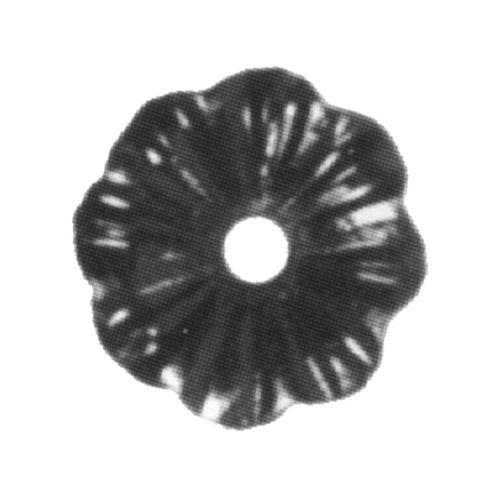 R 116/A/4 kovácsoltvas levelek, virágok