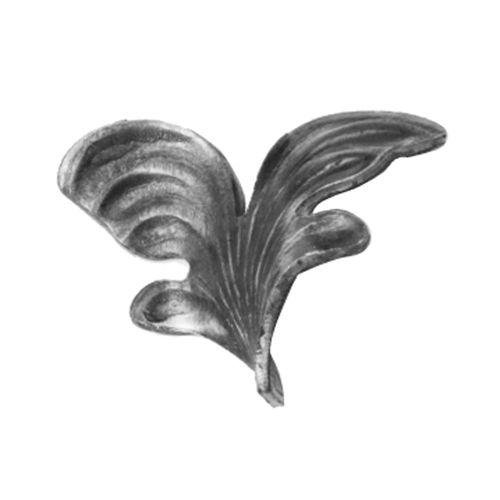 R 136/3 kovácsoltvas levelek, virágok