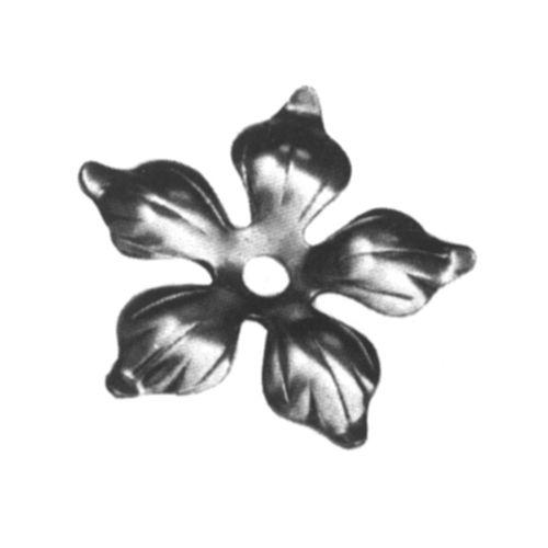 R 138/4 kovácsoltvas levelek, virágok