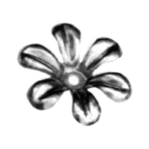 R 138/6 kovácsoltvas levelek, virágok
