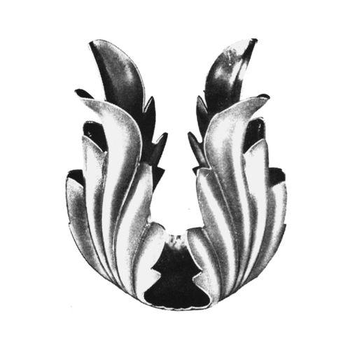 R 140/5 kovácsoltvas levelek, virágok