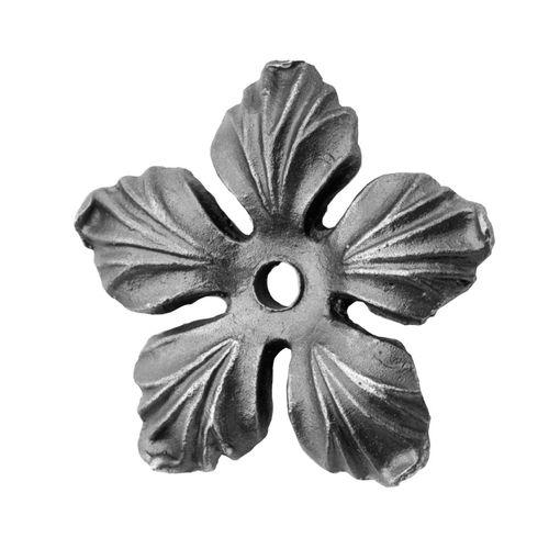 R 664/5 kovácsoltvas levelek, virágok