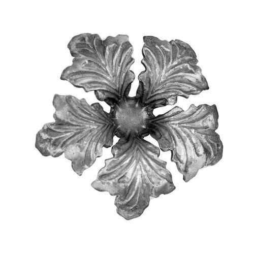 R 665/1 kovácsoltvas levelek, virágok
