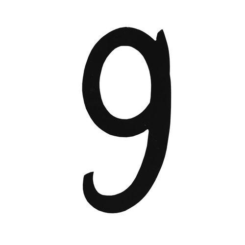R 851/9 kovácsoltvas számok, levélbedobók